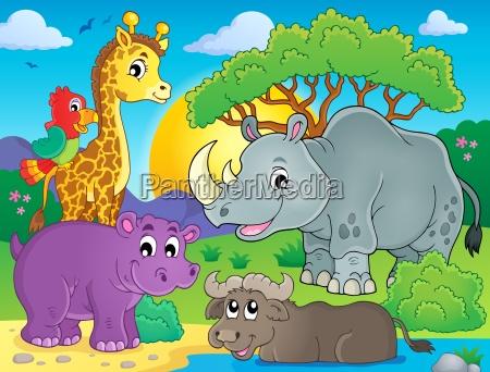 african fauna theme image 3