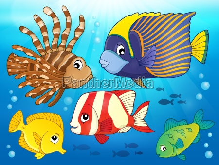 coral reef fish theme image 3