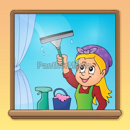 donna finestra persona familiare domestico fotogramma