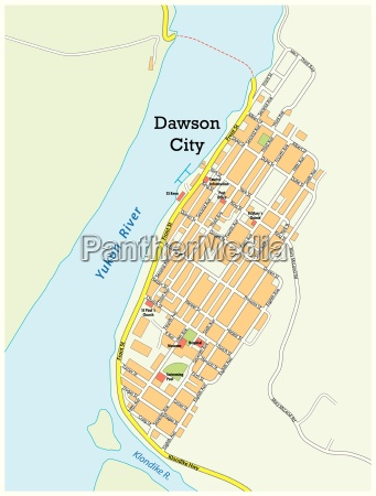 city map of dawson city yukon