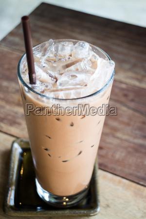 glas kaffee mokka mit eis