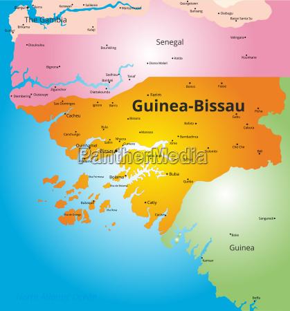 farbkarte von guinea bissau