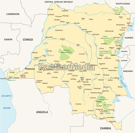 republik freistaat kongo demokratisch himmelskarte globus
