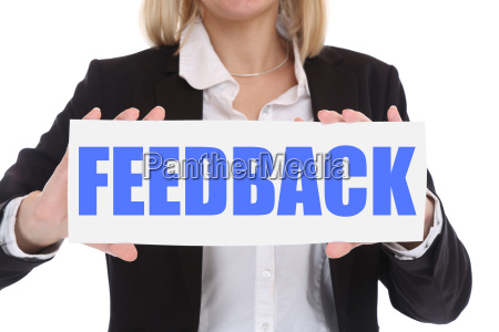 business konzept geschaeftsfrau feedback kundendienst service