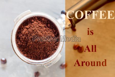 kaffee ist rund um inspirierend zitat