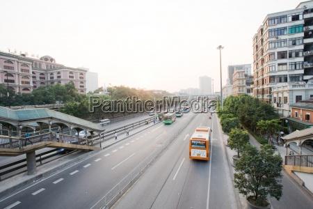china stadtdurchgangsstrasse hochwinkelansicht