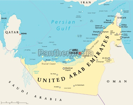 vereinigte arabische emirate politische karte