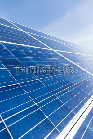 solar panel texture with blue sky