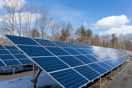 solar power plant in countryside