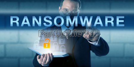 security consultant touching ransomware