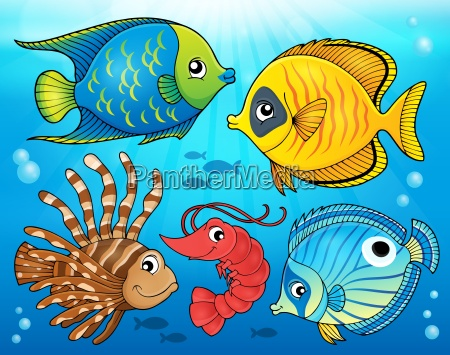 coral fauna theme image 4