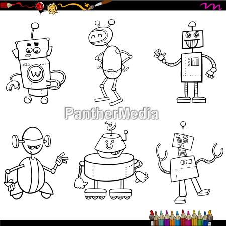 zeichen roboter malbuch