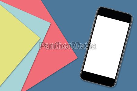 smartphone mit leeren bildschirm