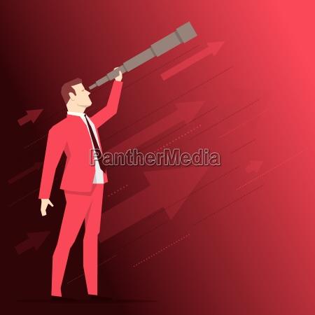 red anzug geschaeftsmann