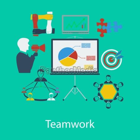 business teamwork flat design