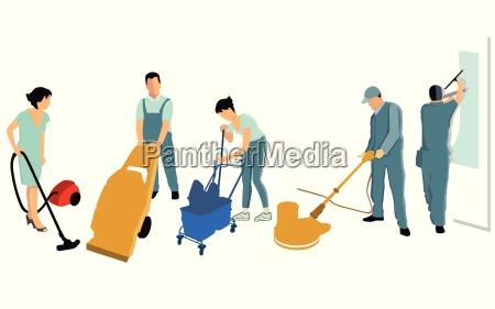 saubermachen und reinigung