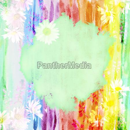 malerische aquarell floralen hintergrund mit einem