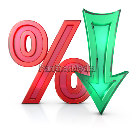 percentages and arrow