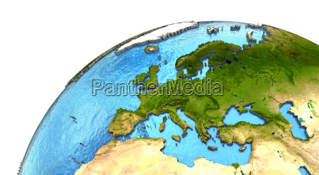 europaeischer kontinent auf der erde