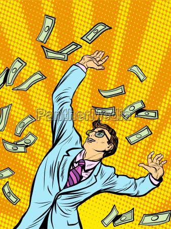 businessman finance money fall