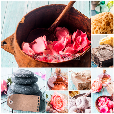 spa composite with natural products and