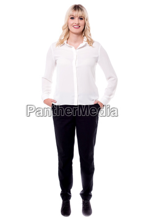 full length portrait of business professional