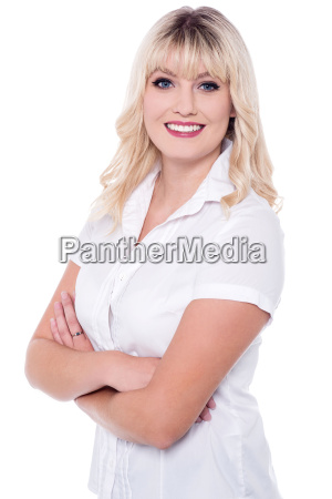 pretty young smiling attractive lady