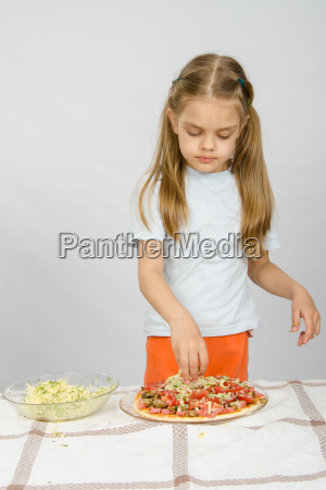little six year old girl standing