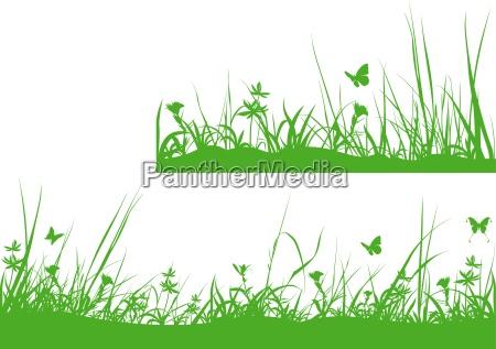 grüne, wiesen, silhouette - 16662682