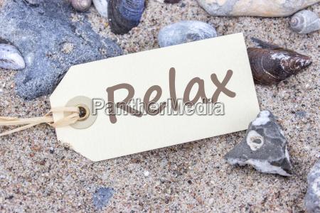card on the sandy beach with