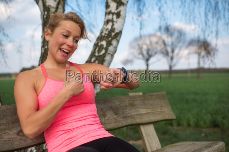 jogger is pleased with the outcome