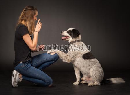 watchful dog girl girls