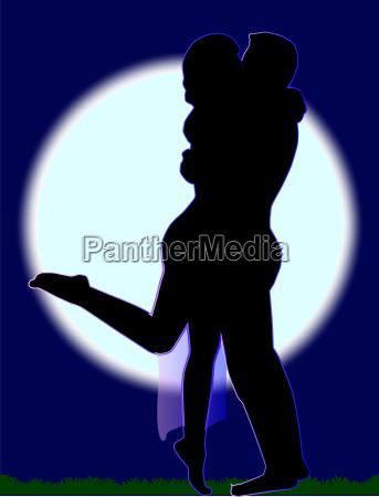 silhouette silhoutte schattenbild heilige kuessen heiliger
