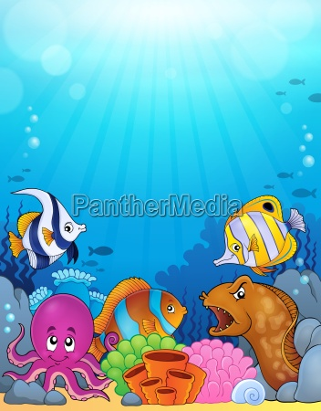 ocean underwater theme background 5