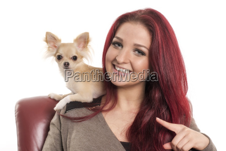 pretty red haired woman with a