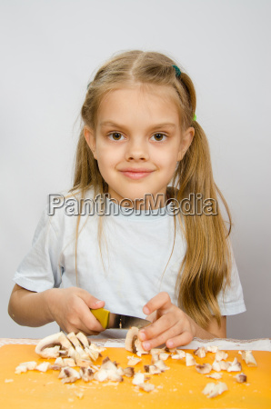 six year old girl at a