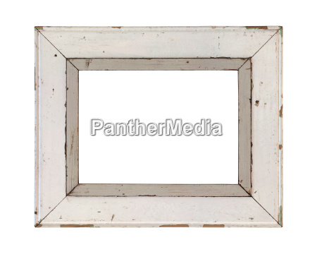 wooden frame incl clipping path