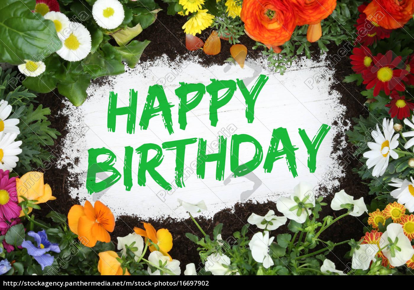 Geburtstagswünsche Karte Geburtstag.Stock Bild 16697902 Happy Birthday Geburtstag Karte Geburtstagskarte Mit Blumen