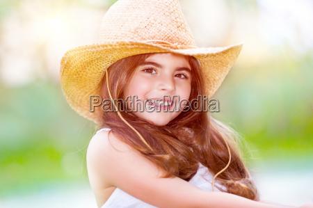 happy cute girl portrait