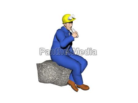 handwerker bei der arbeit freigestellt