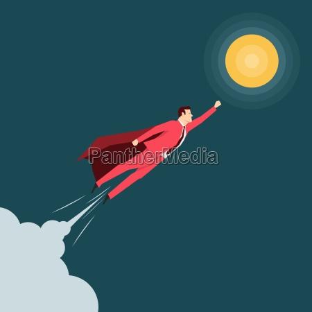 red suit businessman super hero vector