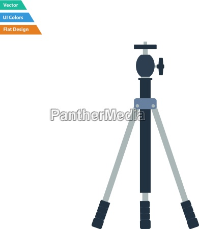 flat design icon of photo tripod