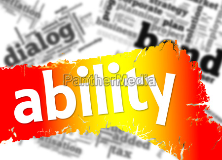 word cloud with ability word