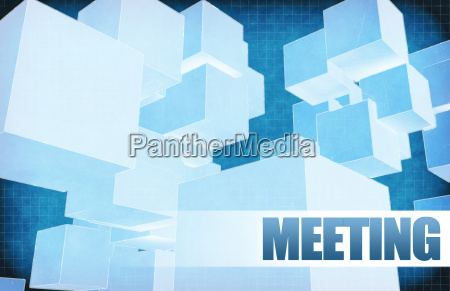 meeting on futuristic abstract