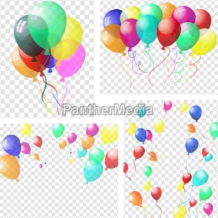 transparente, bunten, luftballons - 16720158