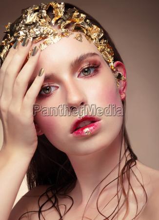 luxury fashion girl portrait