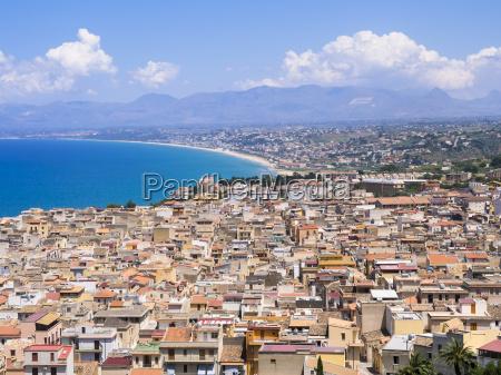 italy sicily townscape of castellammare del