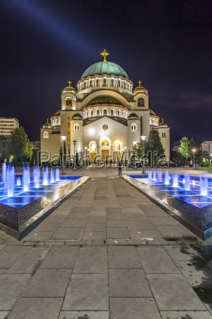 serbien belgrad beograd kirche des heiligen