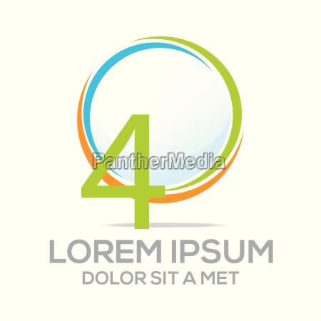 logo vier vektornummer