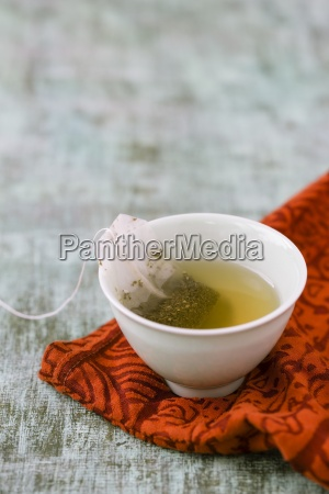 bowl of ceylon tea with tea